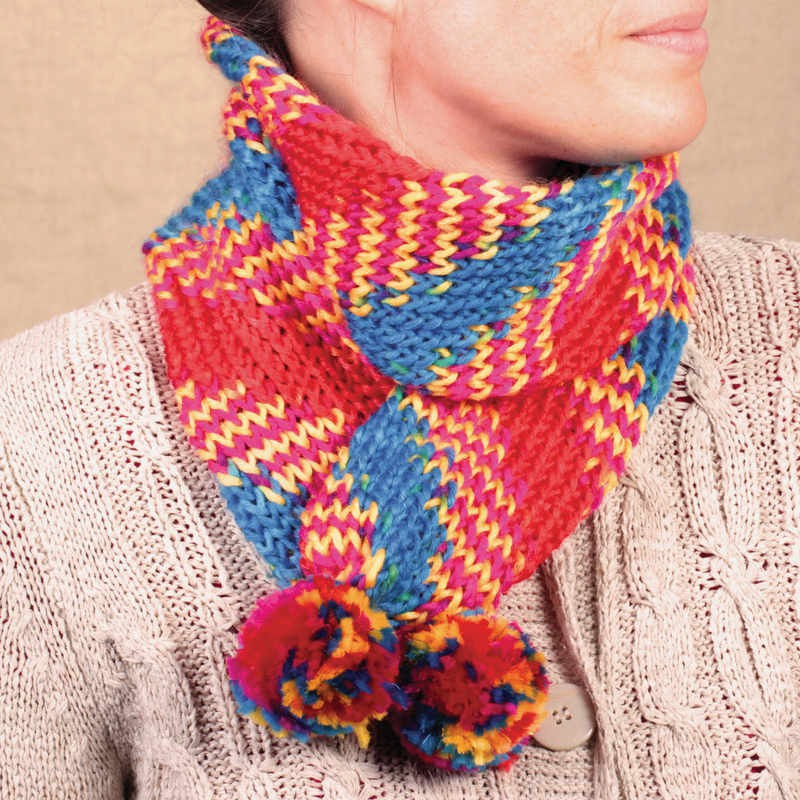 French Knitting Scarf : Make your own scarf french knitting loom arts crafts age